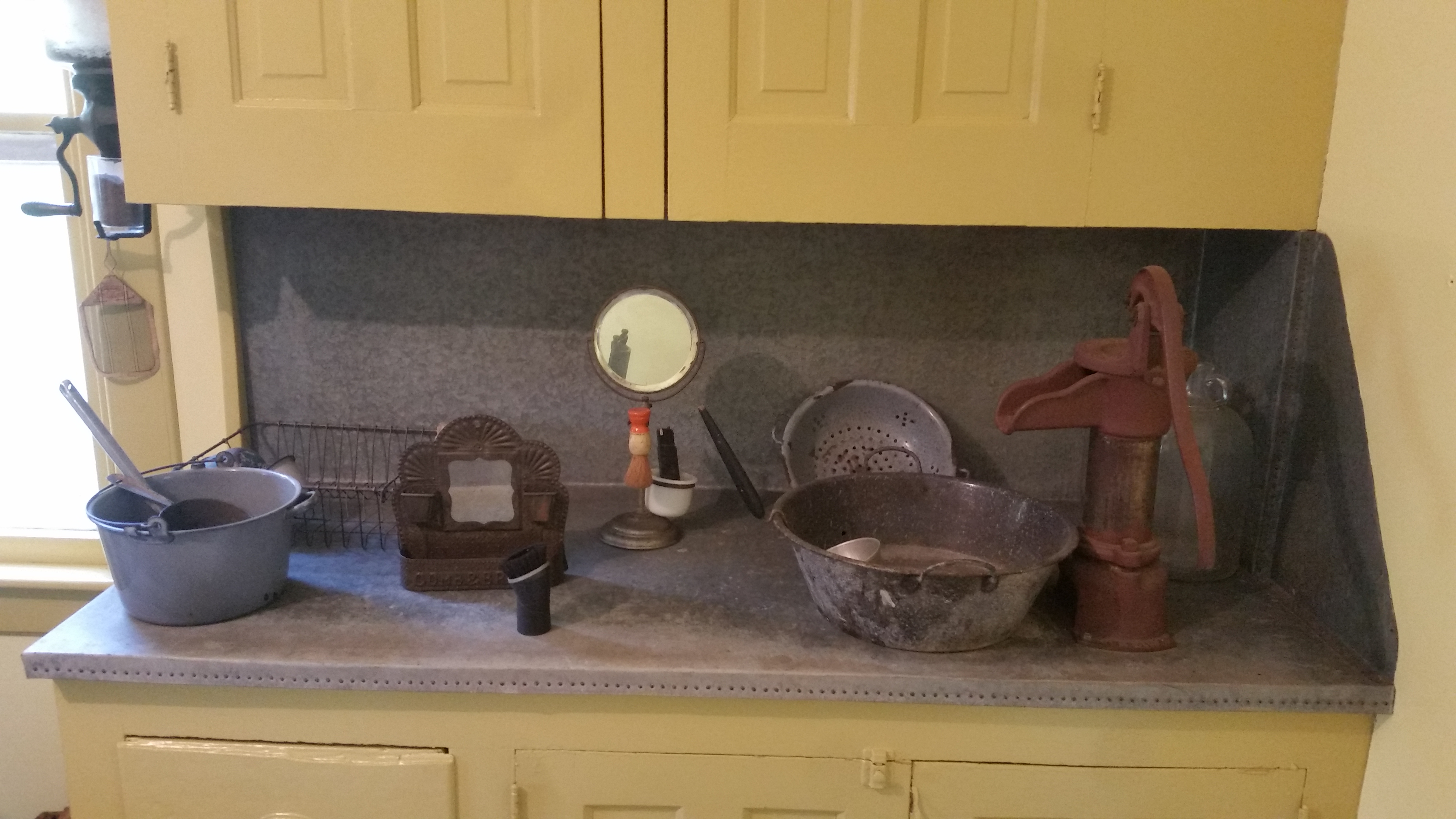 old-time kitchen counter