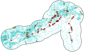 map of roads near lehigh river