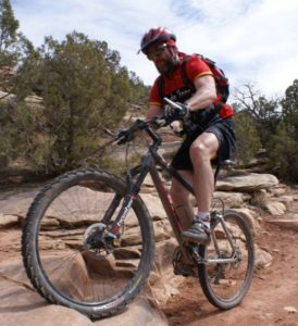 I ride my mountain bike