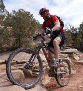 I ride my mountain bike