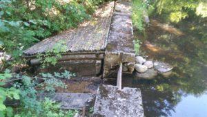 small dam spillway