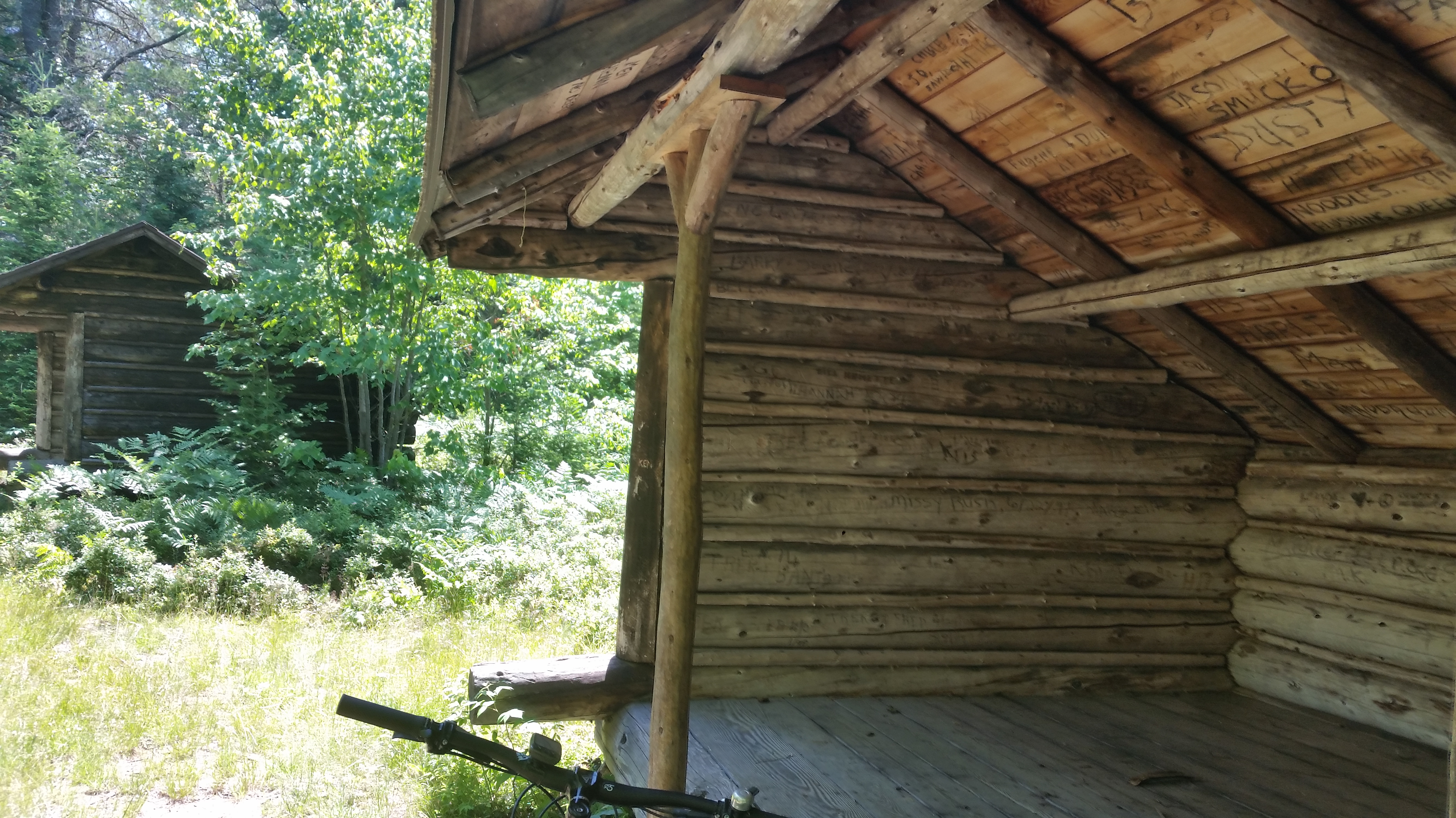 log lean-to structures