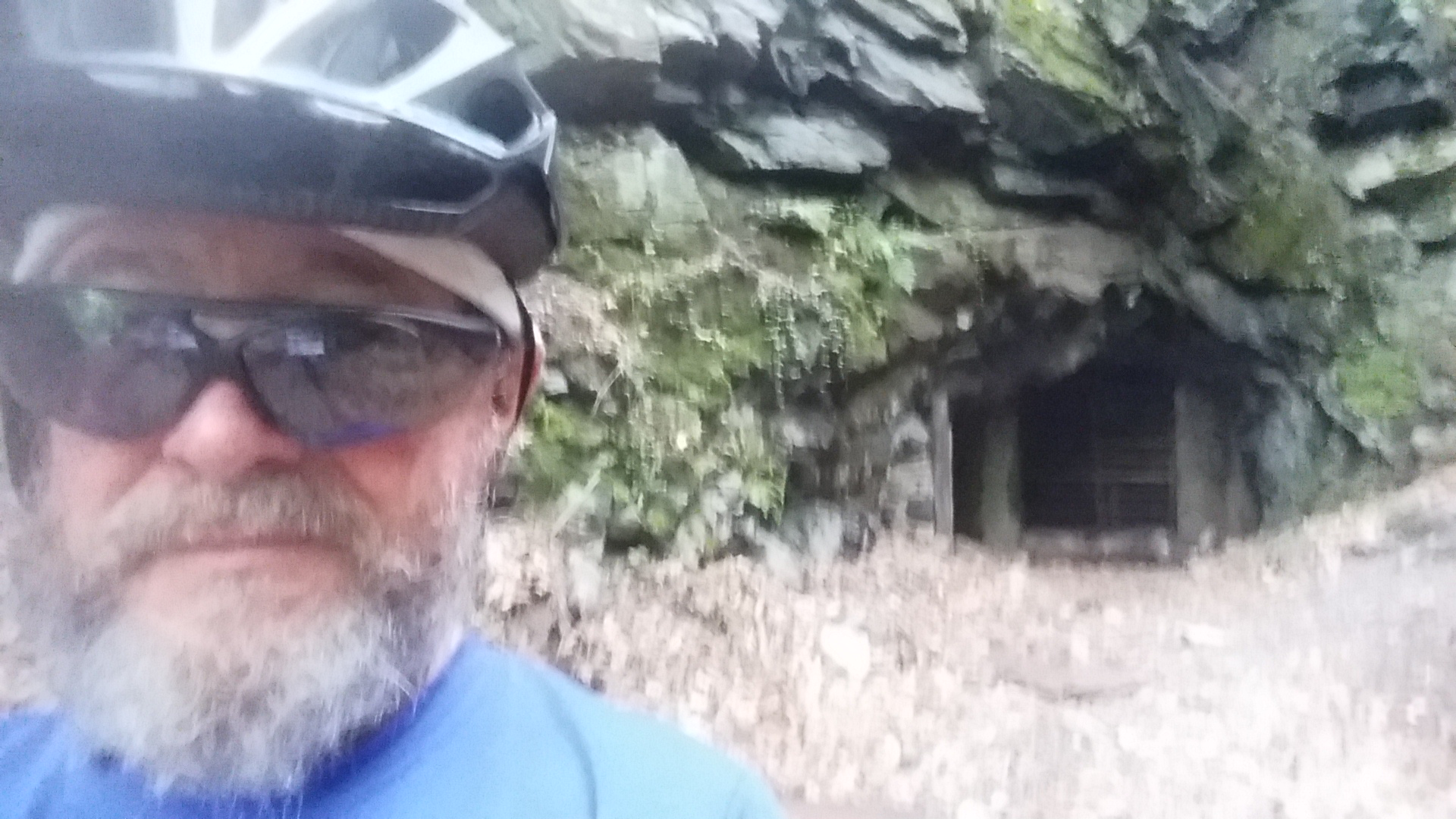 selfie by cave entrance