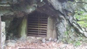 gated mine entrance