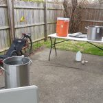 outdoor beermaking space